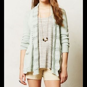 Angel of the North Anthropologie Mint Sweater